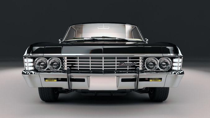 chevrolet impala ss 1967 3d model max obj fbx stl mtl 1