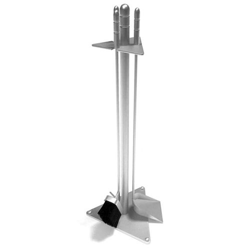 Stainless Steel Fireplace Tools With Stand 3D model