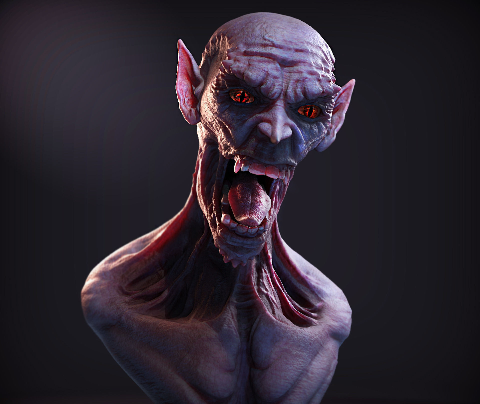 Monster Bust 3d Model Obj Ztl