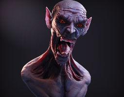 Monster Bust 3D Model