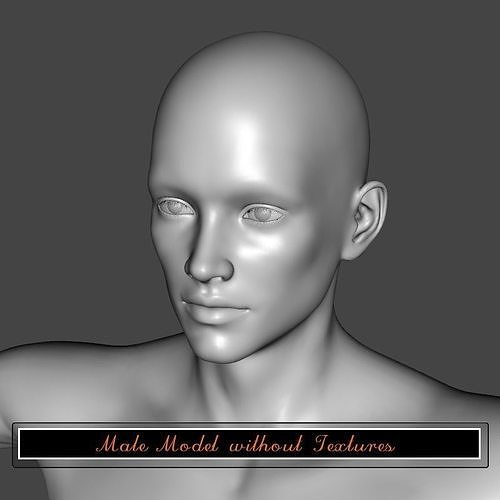 Male model without textures