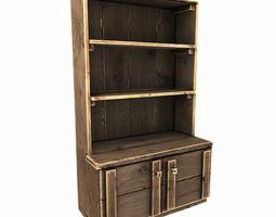 3d model old wooden cupboard