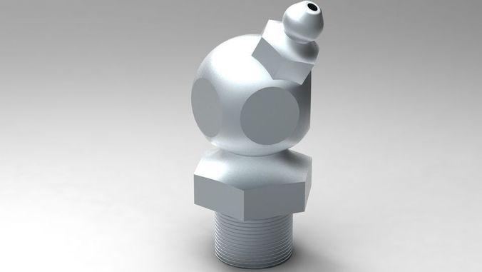 Grease Nipple 3D   CGTrader