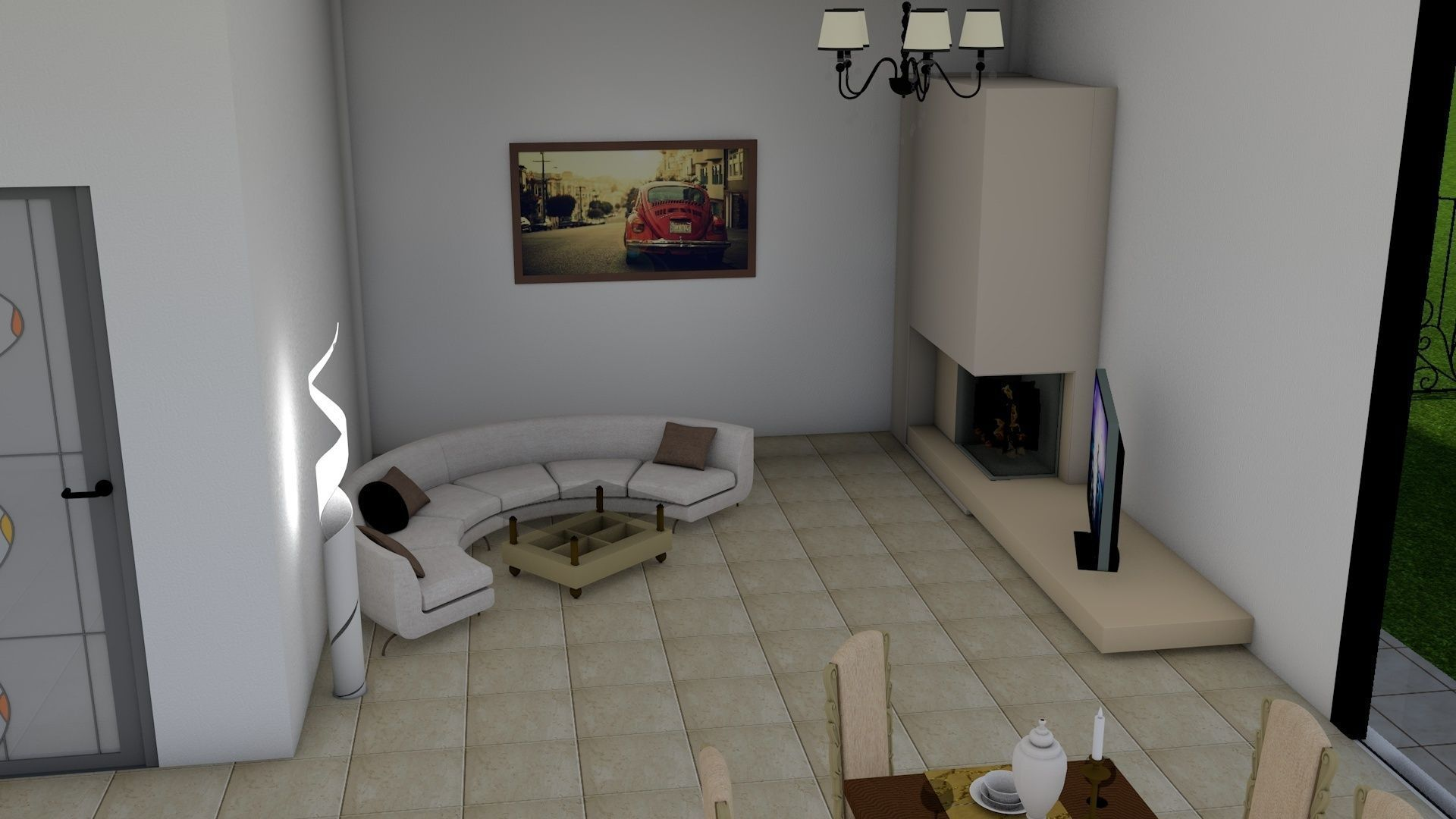 Modern House - Interior - xterior design 3D Model rigged 4D ... - ^