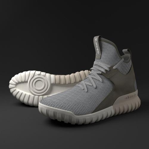 adidas Tubular X 2.0 Mens By3615 Utility Black Canvas Textile Shoes
