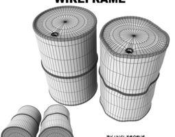 Industrial Barrels FBX and OBJ 3D model