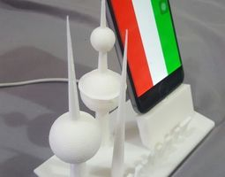 3D printable model Kuwait Tower Charging Dock for iphones