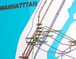 New York City Not Official Subway Map  3D Model