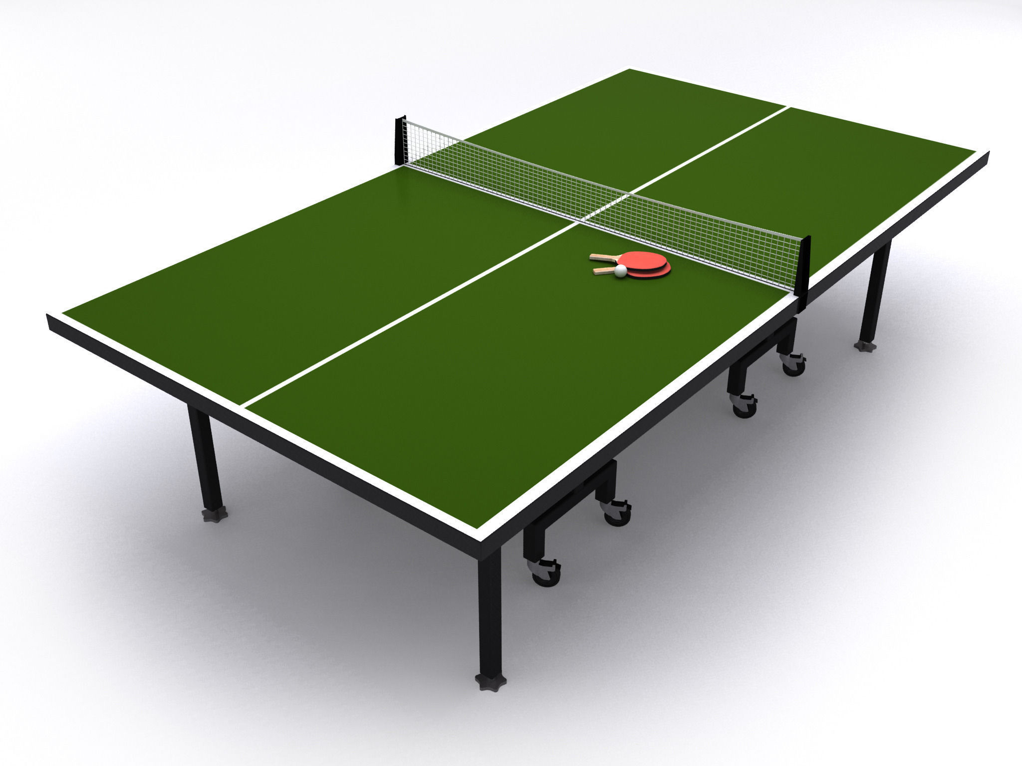 Merveilleux ... Table Tennis Or Ping Pong Table 3d Model Max Obj 3ds Fbx Mtl Mat 2 ...
