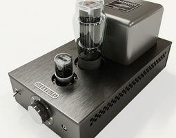 darkvoice 336se headphone tube amplifier 3d model PBR