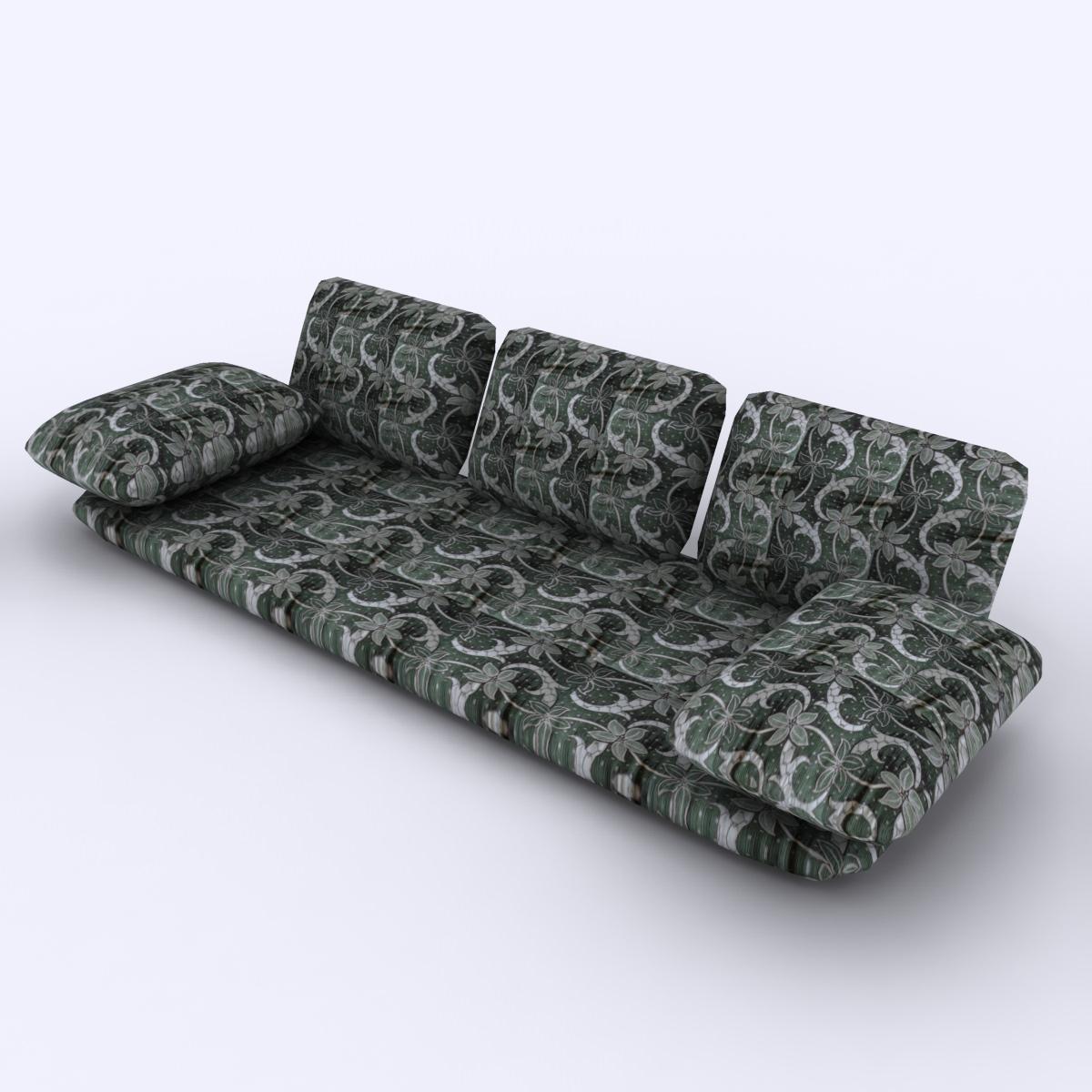 ... Arabian Floor Sofa 3d Model Max Obj 3ds Fbx 2 ...