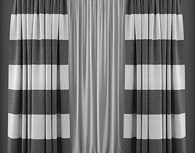 low-poly Curtain 3D model 133