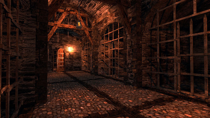 medieval dungeon - modular 3d model low-poly obj mtl 3ds fbx blend X ms3d 1