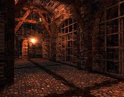 medieval dungeon 3d model low-poly obj 3ds fbx blend X ms3d