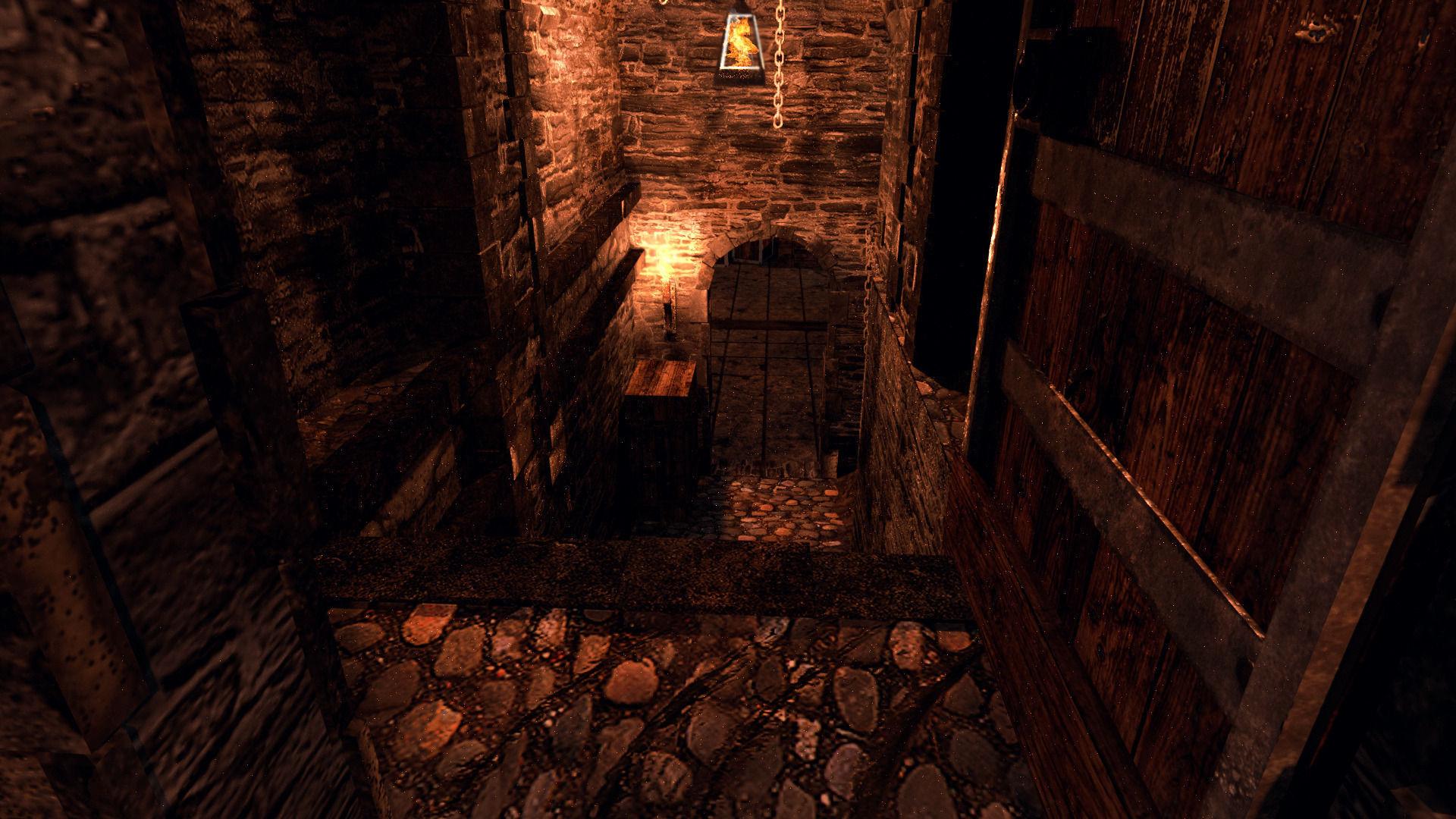 3d model medieval dungeon vr ar lowpoly obj 3ds fbx