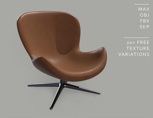 Spinning Relaxing Modern Office Armchair - A008
