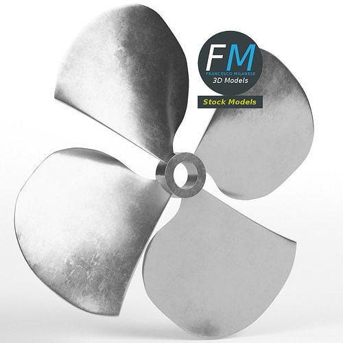 Four blades propeller fan