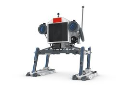 sci Funny Robot Character 3D model