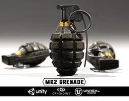 MK2 Grenade - Models and Textures 3D Model