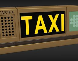 3d taxi sign light