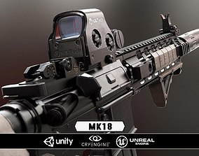 low-poly MK18 - Model and Textures