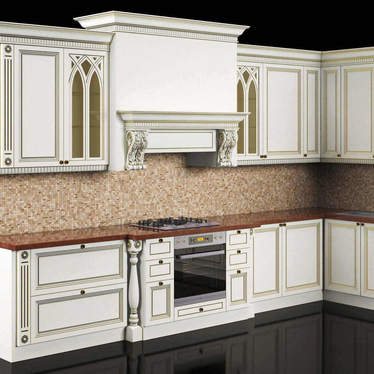 classic kitchen 3D Model MAX | CGTrader.com on Model Kitchen  id=78219