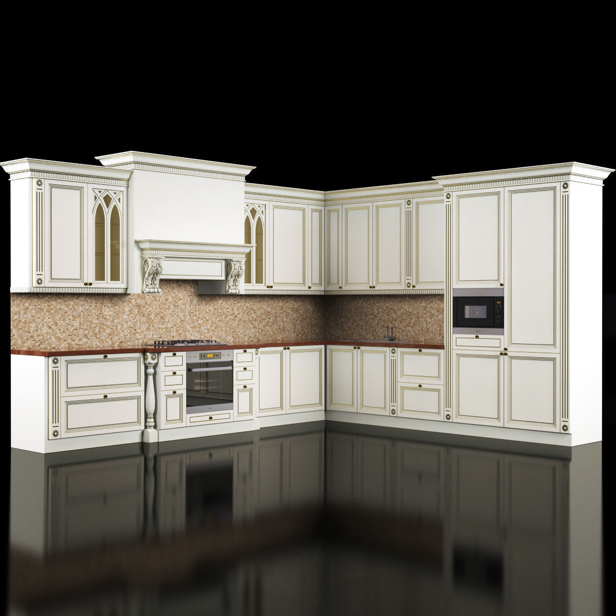 Kitchen 3d Model classic kitchen 3d model | cgtrader