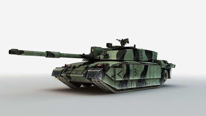 british mbt challenger 2  3d model low-poly max fbx 1
