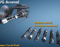 Minigun Turret 3D model