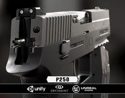p250  - model and textures 3d asset low-poly