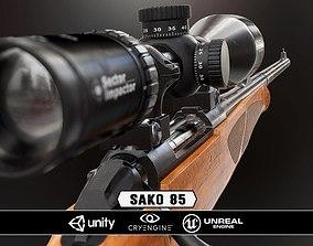 game-ready Sako 85 Bavarian - Model and Textures