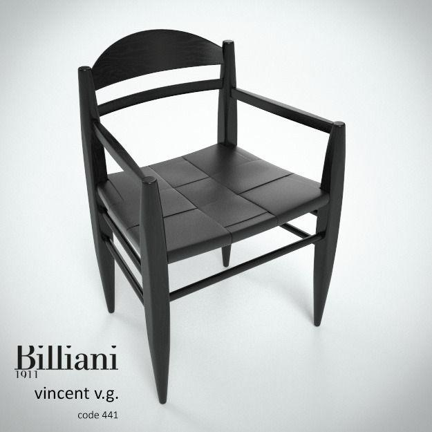 Billiani Vincent VG armchair black