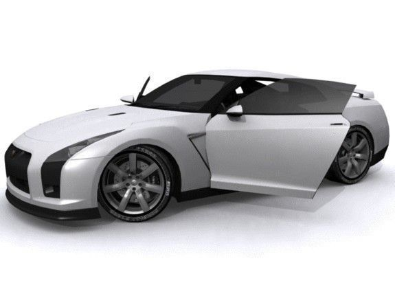 nissan gt-r 3d model low-poly max 3ds fbx tga 1