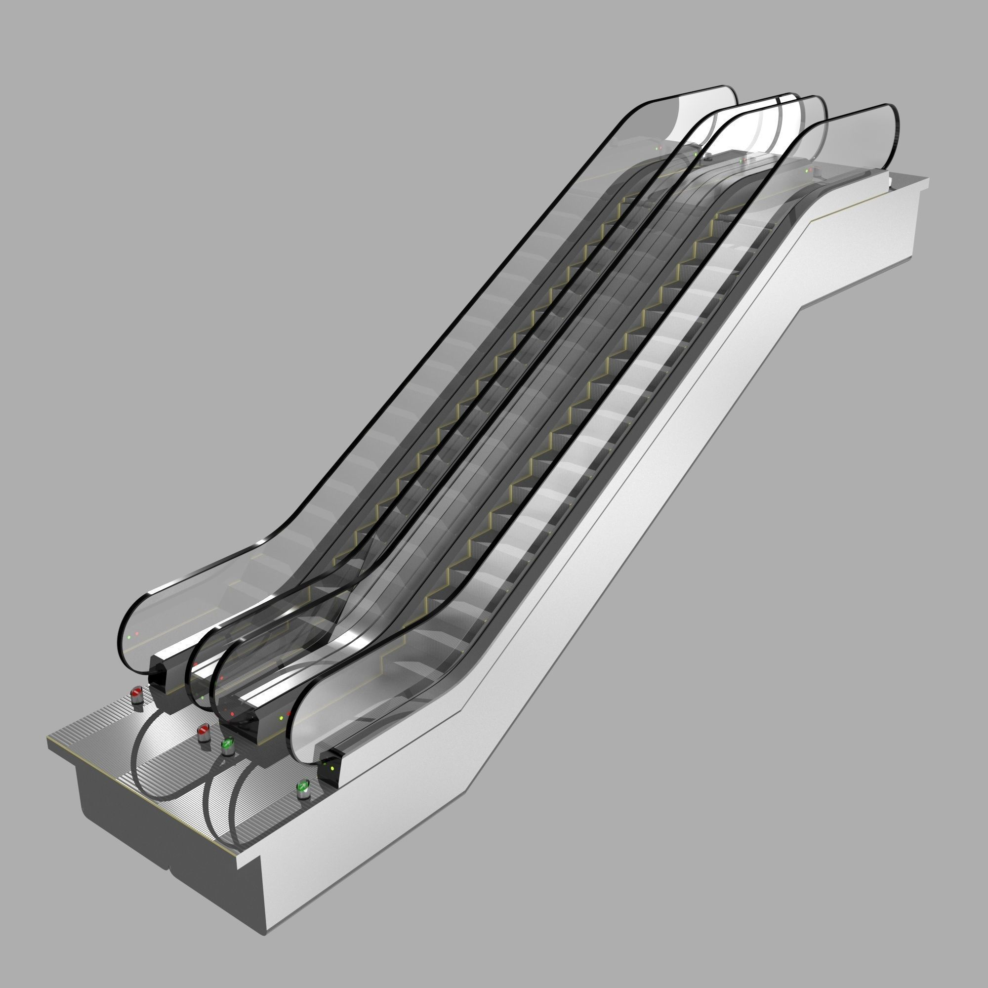 Escalator KONE Travelmaster 110 3D Model