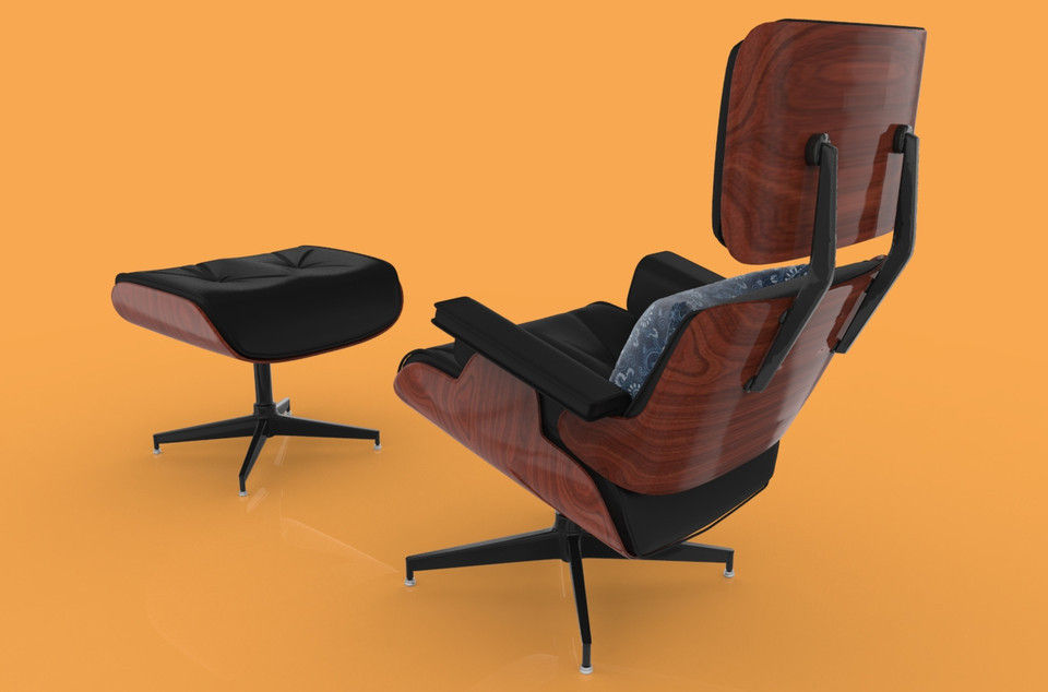 Eames Lounge Chair 3d model eames lounge chair bygus cgtrader