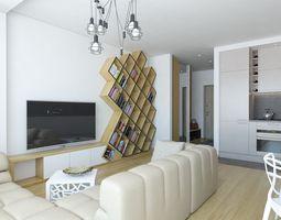 3D Model Cozy Apartment Living Room