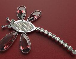 Butterfly diamonds 3D model