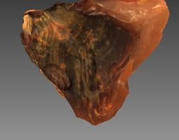 3d scan of a real stone red