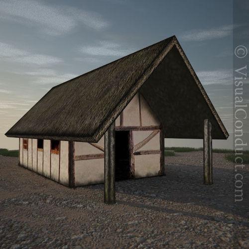 3d model medieval farm house cgtrader for Farm house model