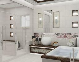 Master Bathroom Modern Style 3D printable model