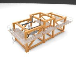 3d model landing gear retraction test rig