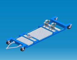 MLG transportation dolly 3D model