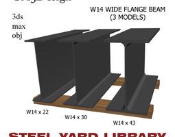 3D model W14 Wide Flange Beam