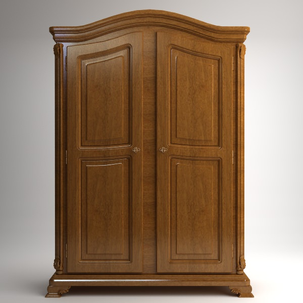 Wonderful Wardrobe Cabinet Armoire 3d Model Max Obj 3ds Fbx Mtl 1 ...