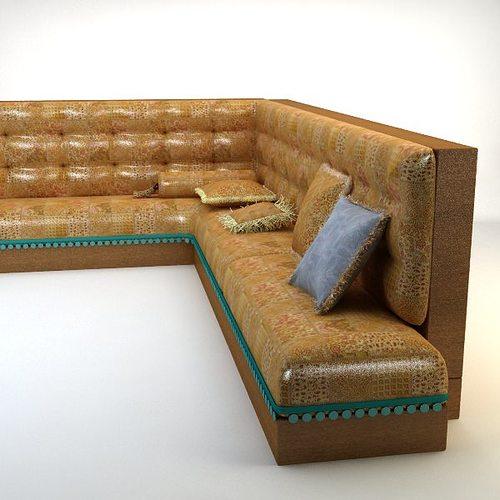 3d turkish hookah sofa cgtrader for Divan furniture models