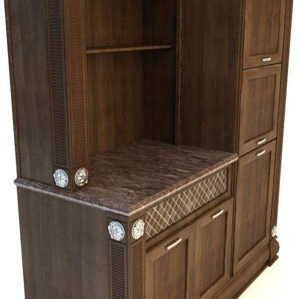 Kitchen Cabinet 3D Model MAX 3DS FBX