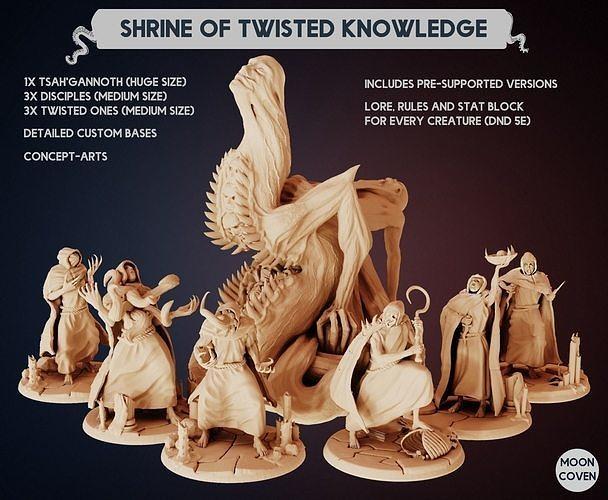 The Shrine of Twisted Knowledge miniature set