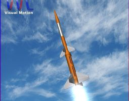 low-poly gamma centauro rocket 3d model