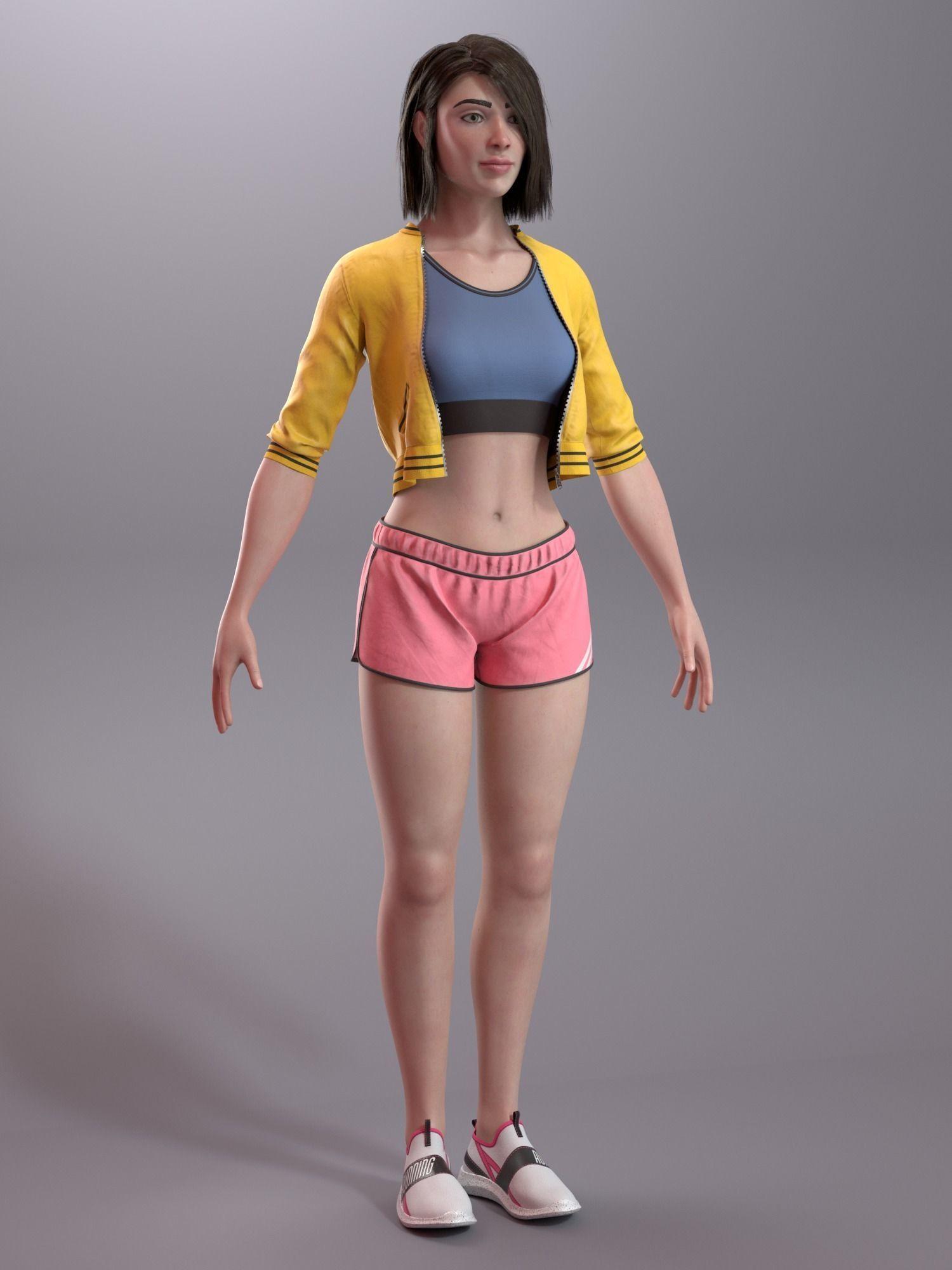 Girl in Sportswear