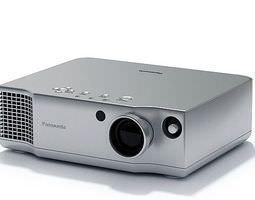 Silver Panasonic Projector 3D Model
